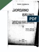 """Podrecca, """"Giordano Bruno"""""""