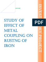 effect of metal coupling on rusting of iron