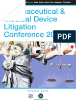 Pharmaceutical & Medical Device Litigation Conference 2013