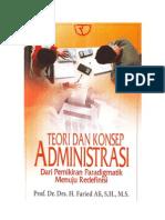 Teori Dan Konsep Administrasi