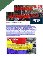 Noticias Uruguayas Viernes 1 de Febrero Del 2012
