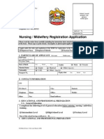 Procedure and Application form for nursing and midwifery  registration in dubai