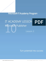 MELJUN CORTES Microsoft Office 2010 Publisher - Lesson 3