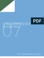 MELJUN CORTES Microsoft Word 2007 Lesson Plan