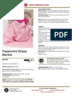 Peppermint Stripes Blanket