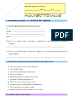 Ficha Trabalho Adjectivos Morfologia[1]