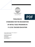 tesol ncate standards 2010