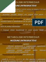 Curs Nr. 3 - Metabolism Intermediar