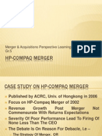 HP Compaq Merger