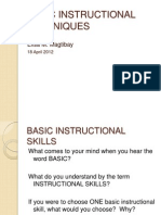 Report on Basic Instructional Techniques