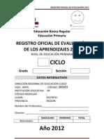 Registro Oficial de Evaluacion 2012