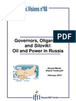 Governors, Oligarchs, and Siloviki