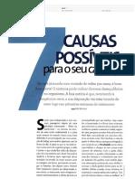 7 causas possíveis para o seu cansaço. Revista Viva Saúde.