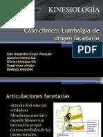 Caso clínico lumbalgia facetaria