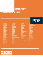 Mineral Commodity Summaries 2013 by USGS