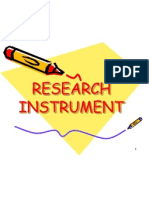 research instrument