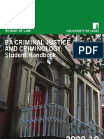 BA Criminal Justice and Criminology Handbook 2009-2010 Leeds