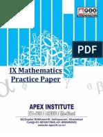 Class  IX-Mathematics-C.B.S.E.-Practice-Paper
