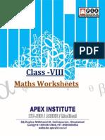 Class VIII_Maths-Worksheets