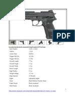 Sig Sauer 22 Handgun