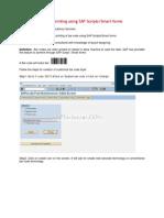 Demo on Bar Code Printing Using SAP Scripts