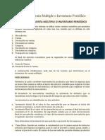 Sistema de Cuenta Multiple o Inventario Periódico