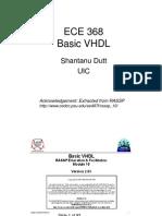 ECE 368 VHDL Data Types Plus Basic