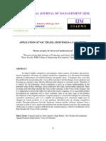 APPLICATION OF VOC TRANSLATIONTOOLS-A CASE STUDY