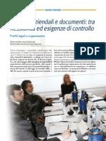 Processi aziendali e documenti tra flessibilità ed esigenze di controllo