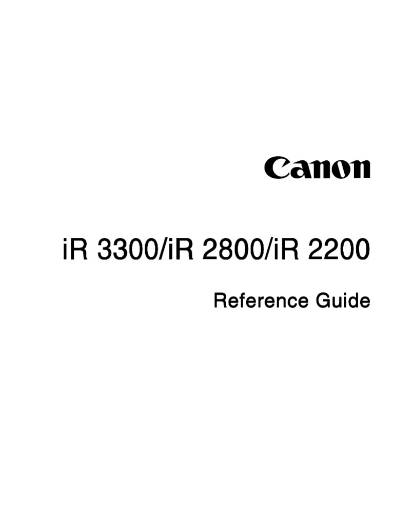 Canon iR2200 iR2800 iR3300 user manual | Image Scanner | Ac Power Plugs And  Sockets