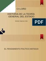 HISTORIA DE LA TEORÍA GENERAL DEL ESTADO