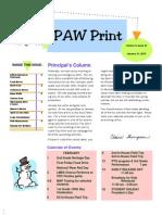 Paw Print January 31