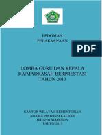 Lomba Guru Dan Kepala Madrasah 2013 Biru