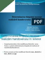 Determinarea timpului necesar realizării handoverului în WiMAX