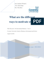 Project - MACCARIO Nelly - Different Ways to Motivate Staff