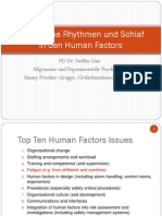 Human Factors and Sleep 2013