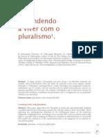 Aprendendo a Viver Com o Pluralismo