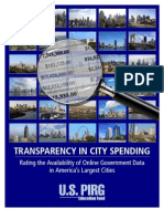 TRANSPARENCY IN CITY SPENDING
