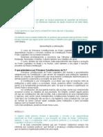 Princípios Constitucionais do Legislativo.