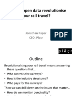 Friday lunchtime lecture - How can Open Data Revolutionise your Rail Travel?