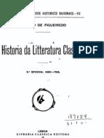 História da Literatura [Portuguesa] Clássica, 2ª época (158-1756) vol. 2, por Fidelino de Figueiredo