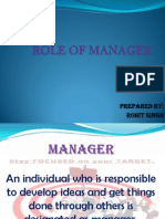 role of manager