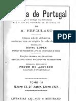 Historia de Portugal desde o começo da monarquia até o fim do reinado de Afonso III, vol. 3, por Alexandre Herculano