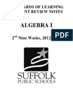 algebra 1 crns 12-13 2nd nine weeks