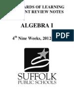 algebra 1 crns 12-13 4th nine weeks