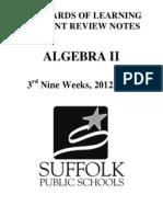 algebra 2 crns 12-13 3rd nine week