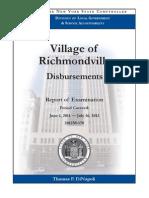 Comptroller's Office audit of Richmondville