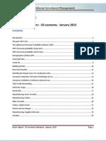 Lighthouse - Macro Report - January 2013