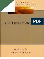 Comentario - William Hendriksen - 1 y 2 Tesalonicenses