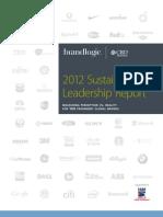 2012 Company Sustainability Leadership